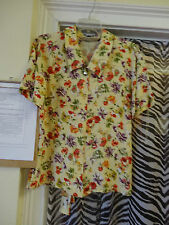 Susan Bristol New Traditions Ladies Womens Blouse Top Size 6 Yellow Purple Red