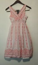 George Dress Girls Pink & White w/ Lining Youth Size 12