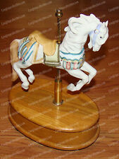 Willitts Music Box, Porcelain Carousel Horse (1984) Wooden Base (Memory) On/Off