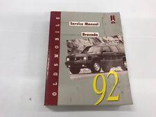 1992 GM Oldsmobile Bravada GMC Factory Service Repair Workshop Manual Book