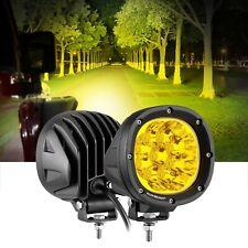 """Pair AUXBEAM 7"""" LED Work Light Amber Spot Pods Driving Fog Lamps for Dodge Ram"""
