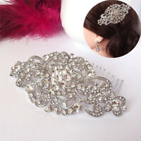 1X Vintage Wedding Crystal Hair Comb Bridal Tiara Bride Hair Piece Accessories^^