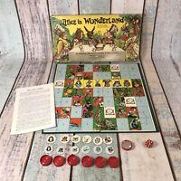 Vintage Alice in Wonderland Board Game 1973 By Spears Games