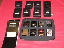 SNAP ON TOOLS ZIPPO RARE COLLECTORS LIMITED EDITION 8 PIECE LIGHTER SET