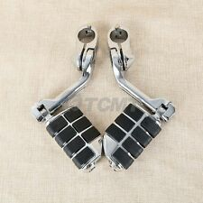 """1.25"""" Adjustable Highway Footrests Foot Pegs fit For Harley Touring Softail Dyna"""