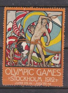 POSTER STAMP,OLYMPIC GAMES, STOCKHOLM, 1912