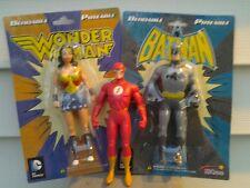 Justice League Bendies - Batman Wonder Woman Flash - 3 Bendable Figures