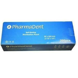 Pharmadent Self Sealing Sterilisation Pouch, 90 mm x 260 mm (Pack of 200)