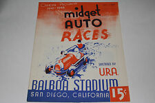 Midget Auto Races Program, San Diego Balboa Stadium, Nov 5 1947, Original