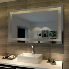 1200mm LED Mirror Wall Hung Bluetooth Heater Demister 5mm Glass for Bathroom