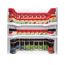 2Tier Spice Rack Shelf Holder Herb Jar Stackable Stand Kitchen Organizer Storage