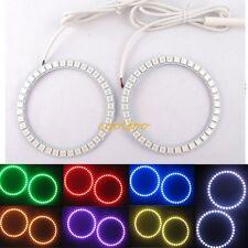 2X 95MM LED Multi-color RGB SMD Angel Eyes Halo Ring Light Bulb lamp Remote kit