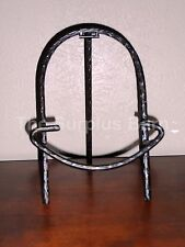 """Arch Shaped 12"""" Tripod Metal Decorative Table Top Plate, Art, Book Display Easel"""