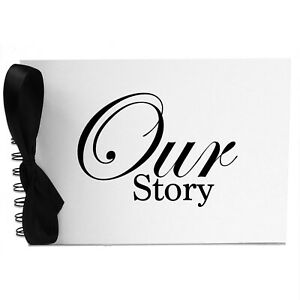 Ribbon, Our Story, Photo Album, Scrapbook, Blank White Pages, A5