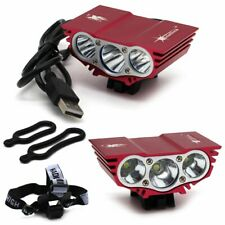 4 Modes USB Connector 7500LM 3x CREE T6 LED Bike Bicycle Light Headlight