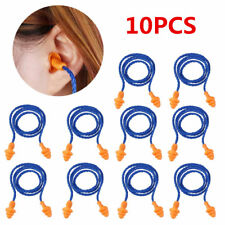 10pcs Soft Silicone Corded Ear Plugs Reusable Hearing Protection Earplugs Safety