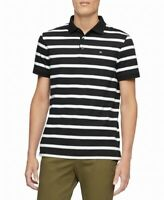 Calvin Klein Mens Shirt White Black Size XL Polo Rugby Contrast Striped $69 #260