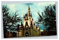 Vintage 1960's Postcard Walt Disney World Cinderella Castle Fantasyland