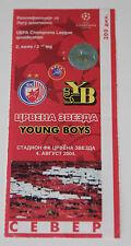old TICKET CL Crvena Zvezda Beograd Serbia Young Boys Bern Switzerland Schweiz