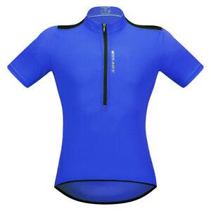 Mens Bike Cycling Jersey Short Sleeve Tops Bicycle Shirt Maillots Pockets Summer