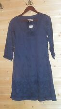 ODD MOLLY BLUE EMBROIDERED COTTON 3/4 SLEEVE DRESS SZ 1