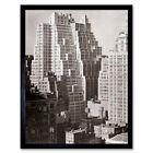 Berenice Abbott 40th Street New York Salmon Tower Photo Framed Wall Art Poster