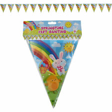 Easter Room Decorations, Banners, Garlands - Bunny Chick Flag Bunting