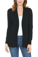 Women's Classic Casual Solid Open Front Sweater Knit Cardigan / Bolero