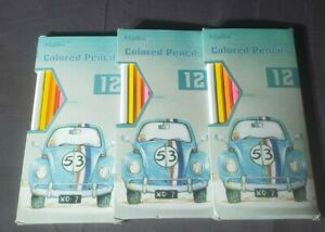 3 packs Madisi Colored Pencils (12 pencils in each pack= 36 pencils TOTAL)