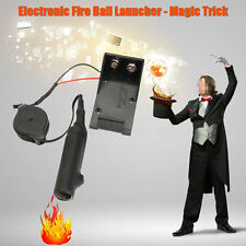 Electronic Fire Ball Launcher Magic Trick Stage Props Illusion Toys Accessories