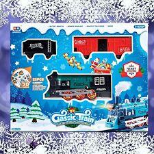 25 Piece 3.3m Merry Christmas Xmas Classic Train Set Headlight Sound Decoration