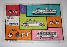 "Made in UK Ireland kitchen towel Getting Around in Bermuda 30""x 20"" New"