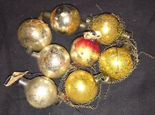Antique Glass Garland - Round Beads, Some Wire Wrapped