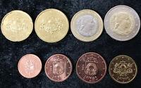 LATVIA SET 8 COINS 1 2 5 10 20 50 CENT 1 2 EURO 2014 UNC