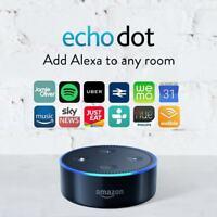 Amazon Echo Dot 2nd Generation - Black Alexa Voice Control Personal Assistant
