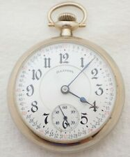 ANTIQUE 18S ILLINOIS A LINCOLN 21 JEWEL 21J MONTGOMERY DIAL POCKET WATCH