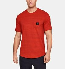 Under Armour Ua Men's Sportstyle Pocket Short Sleeve T-Shirt - Red - New
