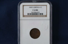 1909-S Lincoln Cent NGC F12 BN Nice Key Date M1010