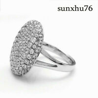 Women S925 Silver Jewelry Ring Engagement Wedding Ring