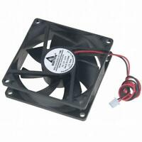 12V DC 80mm 2Pin 80x80x25mm CPU Cooling Computer PC Case Cooler 8025 Fan US Stk