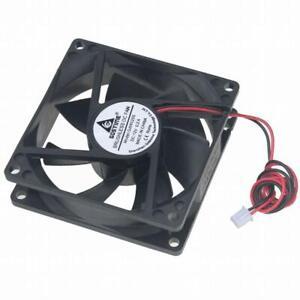 12V DC 80mm 2Pin 80x80x25mm CPU Cooling Computer PC Case Cooler 8025 Fan US Stk