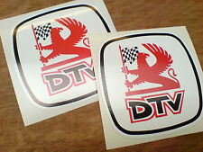 DTV & LOGO Dealer TEAM Classic Rally Motorsport Adesivi Decalcomanie 2 OFF 100mm