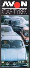 Avon Car Tyres 1969-70 UK Market Foldout Sales Brochure