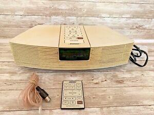 BOSE AWR1-2W AM FM Wave Clock Radio System With FM Cable & Original Remote