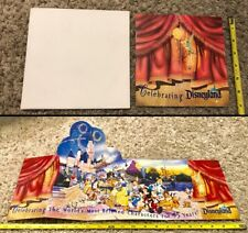 Disney DL - Cast Exclusive 45 Years Disneyland Large Fold Out Ticket Unused Rare