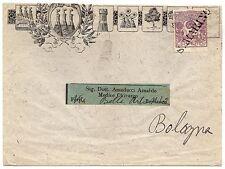 San Marino - 2 cent su busta per Bologna (annullo in stampatello), 1903
