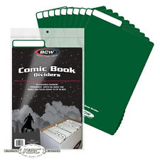25 - BCW Green Plastic Comic Book Dividers - Fold Down Index Tab - New Design