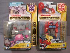 Transformers Cyberverse MEGATRON Fusion Mace & OPTIMUS PRIME Energon Axe Attack