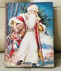 Sid Dickens Memory Block Santa T524 Retired Christmas Holiday Tile New Wall Tile