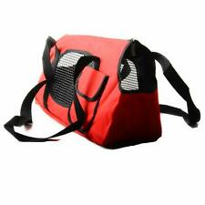 Red Pet Carrier Tote Purse Handbag for Dogs Cats 16 inch Small